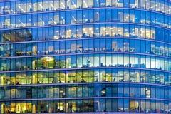 蓝色办公室视窗 库存图片