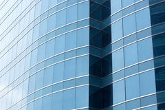 蓝色办公室玻璃窗背景,亚洲 库存照片