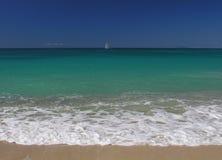 蓝色加勒比 库存图片
