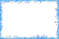 蓝色加点fram白色 免版税库存图片
