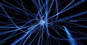 蓝色动态现代抽象波能条纹 皇族释放例证