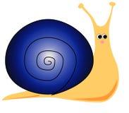 蓝色动画片蜗牛 库存图片
