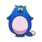 蓝色动画片油脂猫 免版税库存照片
