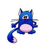 蓝色动画片猫 免版税库存照片