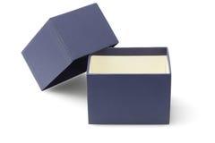 蓝色包装的箱子 免版税图库摄影