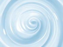 蓝色化妆奶油色漩涡 免版税库存图片