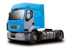蓝色半小室卡车 免版税库存图片