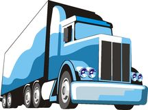蓝色卡车 库存例证