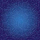 蓝色印第安模式无缝的样式墙纸 免版税库存图片