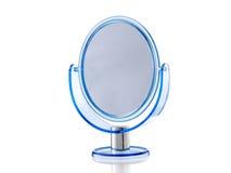蓝色卵形立场镜子 图库摄影