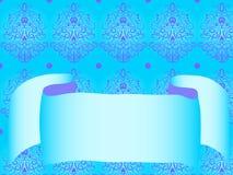 蓝色卷毛模式磁带 免版税库存照片