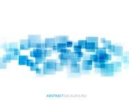 蓝色发光的正方形技术经验 向量 免版税库存图片