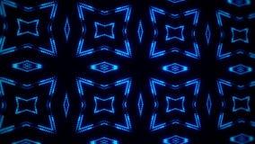 蓝色发光的被带领的微粒万花筒VJ圈行动BackgroundGree 向量例证