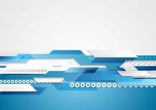 蓝色发光的高科技行动背景 免版税库存照片