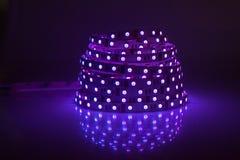 蓝色发光的LED诗歌选 免版税图库摄影