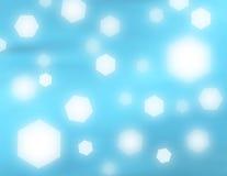 蓝色发光 免版税库存照片