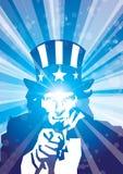 蓝色发出光线山姆 免版税库存照片