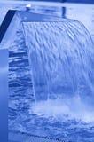 蓝色口气游泳池 免版税库存图片