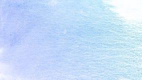 蓝色古色古香的水彩油漆背景,美丽的行星 皇族释放例证