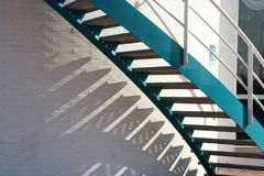 蓝色台阶 免版税库存照片