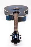 蓝色吉他 库存图片