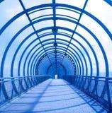 蓝色同心隧道 库存照片