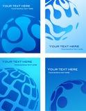 蓝色名片模板设计 免版税库存照片