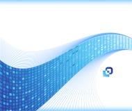 蓝色名片模板通知 免版税库存图片
