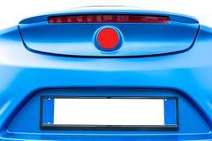 蓝色后面汽车 免版税库存照片