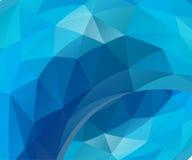 蓝色向量背景 免版税库存照片