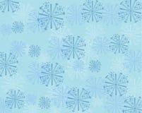 蓝色和小野鸭抽象雪花背景 免版税库存图片