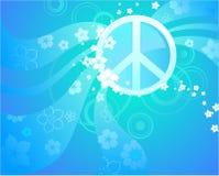 蓝色和平标志 库存图片