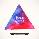 蓝色和桃红色三角背景 库存照片