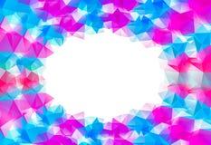 蓝色和桃红色抽象几何背景 上色映象点时髦马赛克 图库摄影