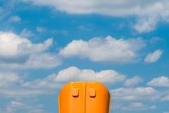 蓝色和橙色在对称和谐中 免版税库存照片