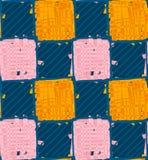 蓝色和橙色正方形 免版税库存图片