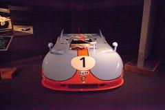 蓝色和橙色1971年保时捷908/3原型 库存图片