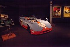 蓝色和橙色1971年保时捷908/3原型 库存照片