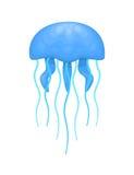 蓝色和深蓝水母 向量例证