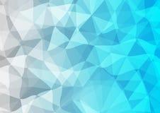 蓝色和灰色三角背景 库存照片