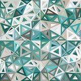 蓝色和灰色呈杂色的抽象三角 免版税库存照片