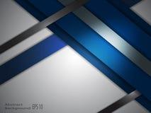 蓝色和灰色抽象背景 库存例证