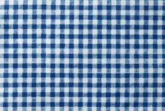 蓝色和白色伐木工人格子花呢披肩无缝的样式 库存图片