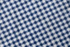 蓝色和白色伐木工人格子花呢披肩样式背景 免版税库存照片