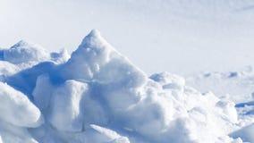 蓝色和白色冰和雪 库存图片