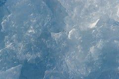 蓝色和白色冰结构 免版税库存照片