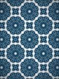 蓝色和白色圈子样式多目的样式背景 免版税库存图片