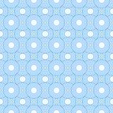 蓝色和白色圈子瓦片样式重复背景 免版税库存图片