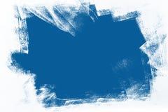 蓝色和白色手画背景纹理 免版税库存照片