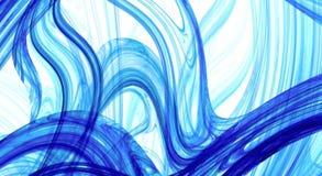 蓝色和白色抽象分数维背景 免版税库存照片